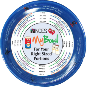 NCES Kids Portion Bowl MyPlate